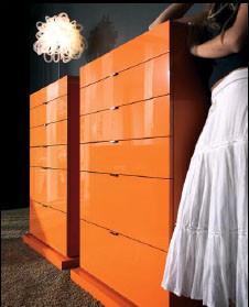 Naranja: Un color inusual para los muebles del dormitorio