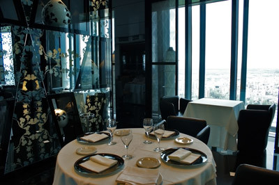 Restaurante panorámico del hotel Madrid Tower