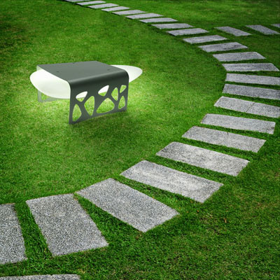 Luminaria Stone Table para exterior