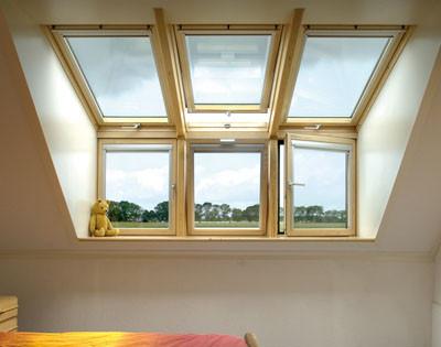 Velux, ventanas verticales de antepecho