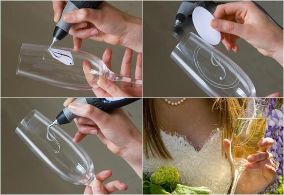 Imagen Grabar copas y etiquetar botellas de vi