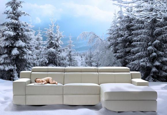 Un sofá con calefacción integrada