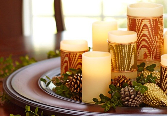 ideas para decorar velas de navidad