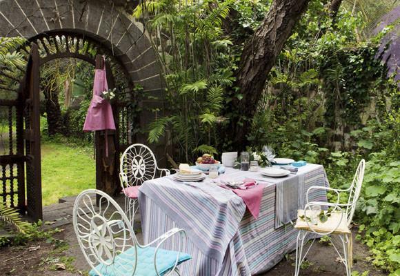Decora el comedor de tu jardín