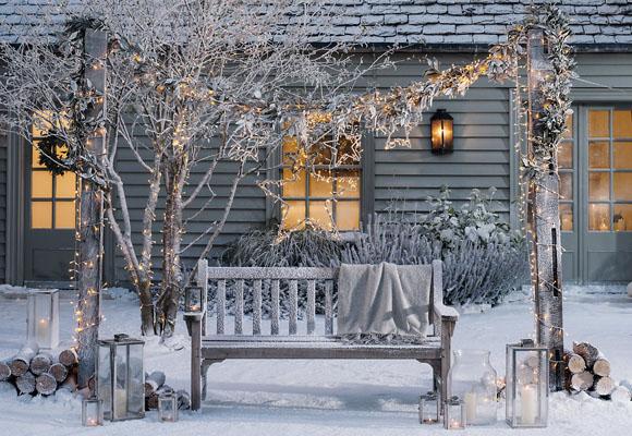 Luces de Navidad en cualquier rincón