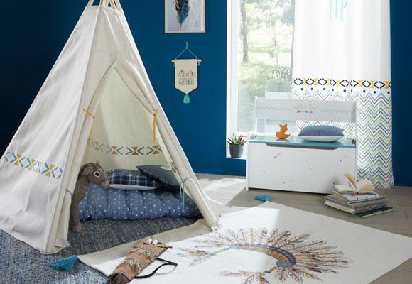 Tipis para decorar la habitación de los niños