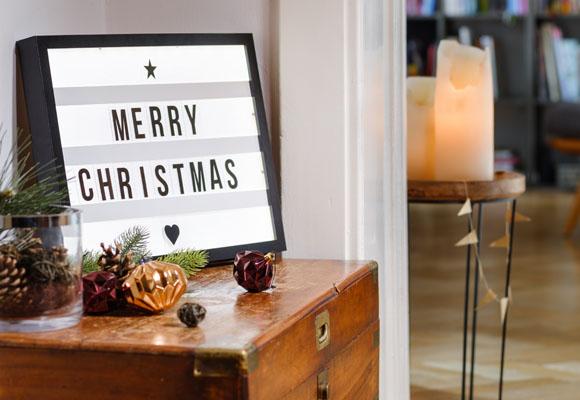 Una caja de luz para Navidad